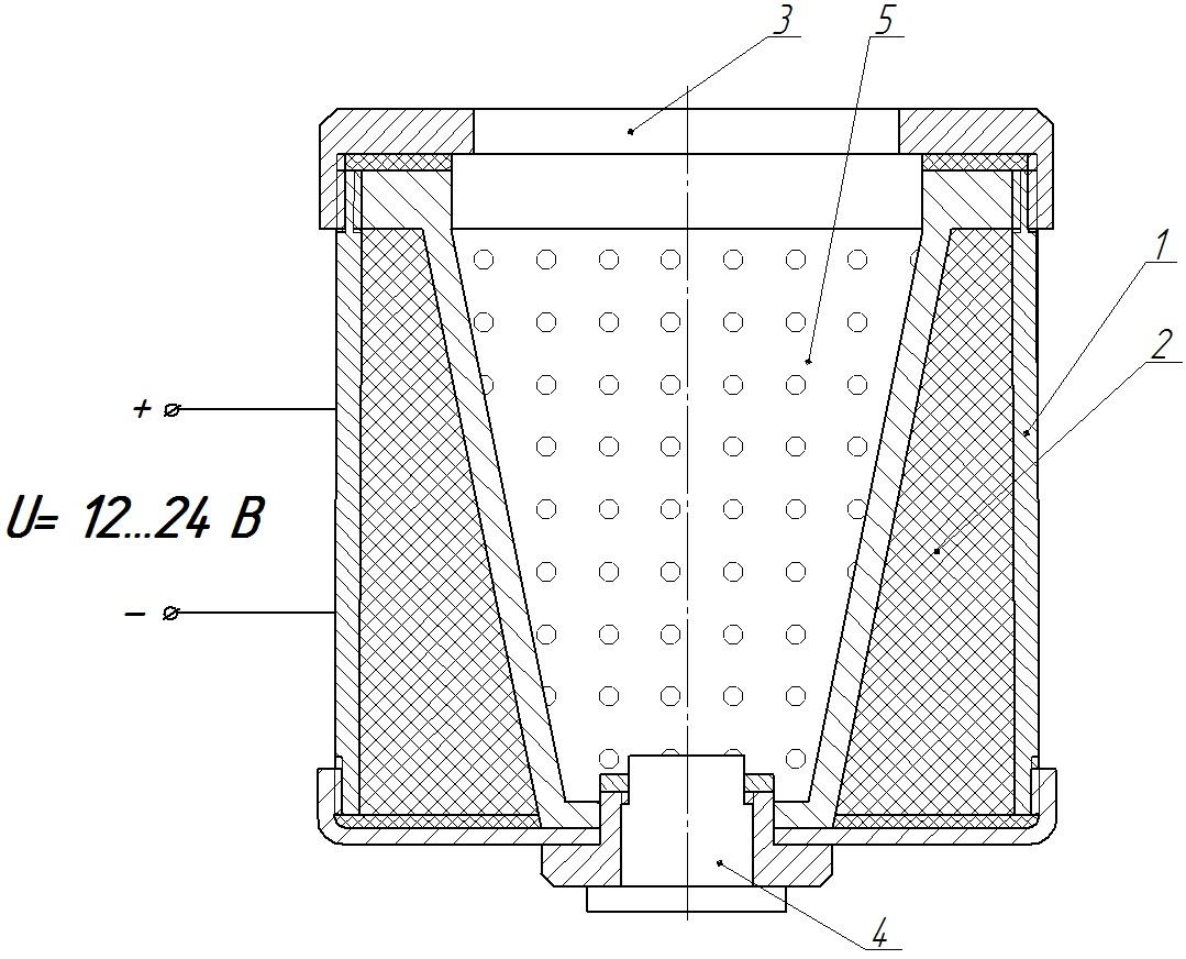 Рисунок 1-Устройство для обработки семян магнитным и тепловым поля-ми