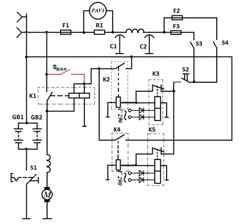 GB1 и GB2 – аккумуляторные