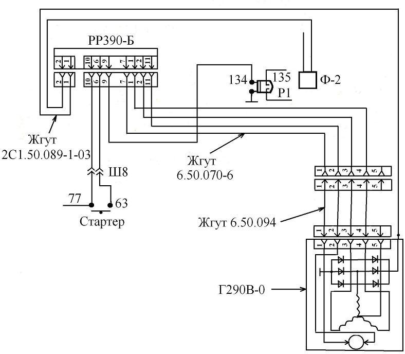 бортовую сеть тягача МТ-ЛБ