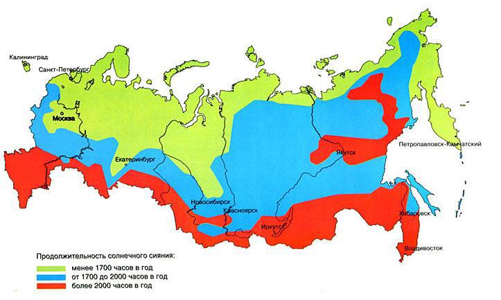 Карта инсоляции